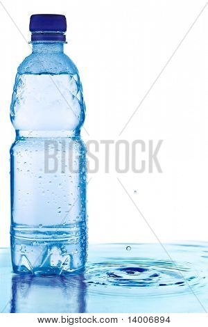 Bottle with water and drops