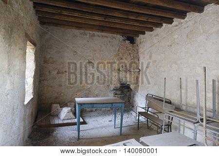 Old School Room Agio Georgios Nikoxilitis Monastery Droushia Cyprus