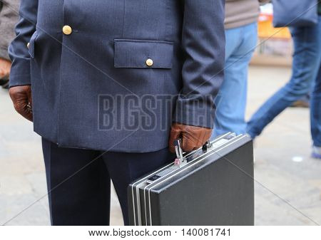 Corrupt Cop With A Suitcase Full Of Money