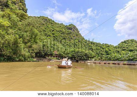 Beautifull landscape at Ninh Binh province, Vietnam
