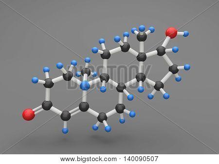 Molecule Testosterone