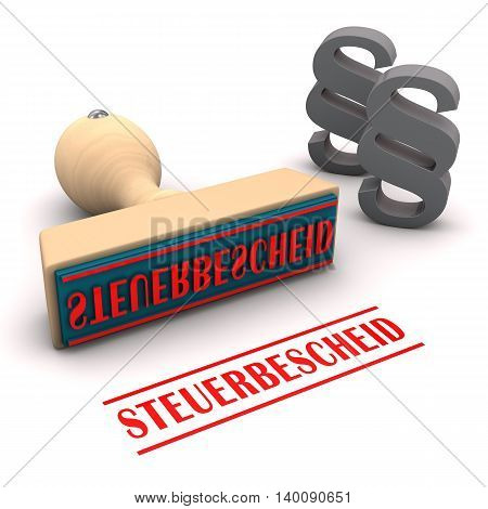 Stamp Steuerbescheid