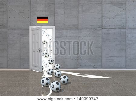 Room Footballs Germany