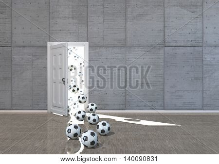 Footballs In The Door