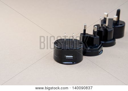 Isolated the set of black universal adaptor