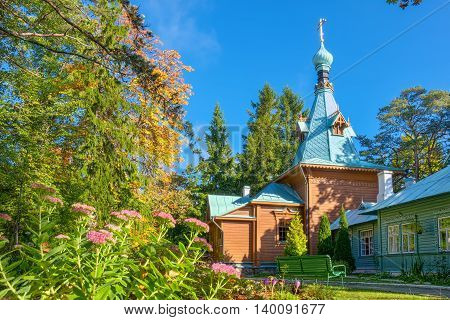 Church of St. Sergius of Radonezh (1895). Puhtitsa Dormition Convent Kuremae Estonia Baltic States Europe poster