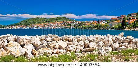 Town of Kali panoramic view Island of Ugljan Croatia