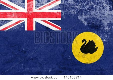 Flag Of Western Australia State, Australia, With A Vintage And O