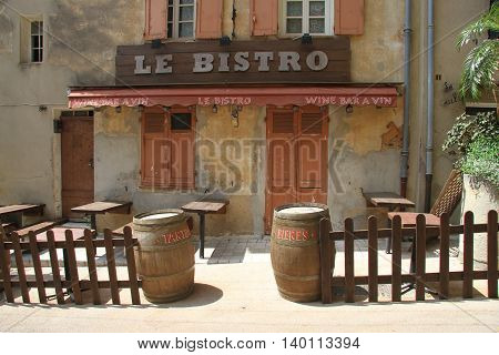 Lost old little bistro in France, Europe