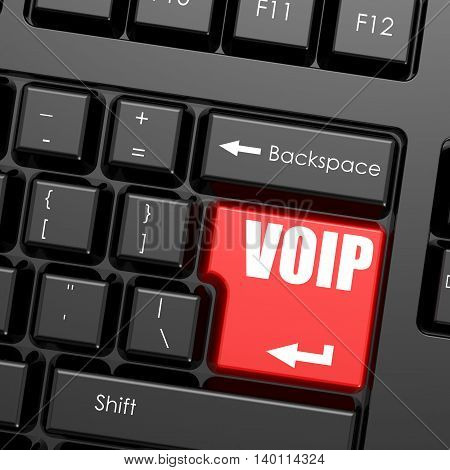 Red Enter Button On Computer Keyboard, Voip Word