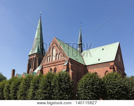 13th century St. Johannis church at Meldorf, often referred to as Meldorf Cathedral