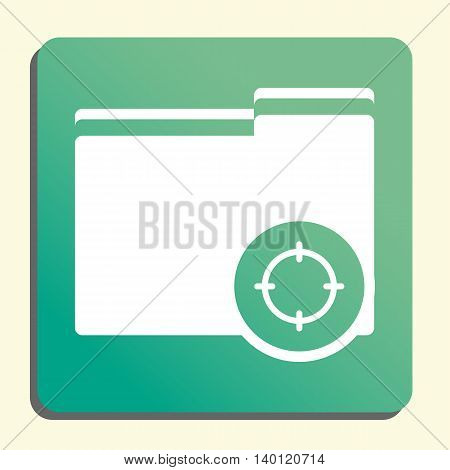 Folder Goal Icon In Vector Format. Premium Quality Folder Goal Symbol. Web Graphic Folder Goal Sign