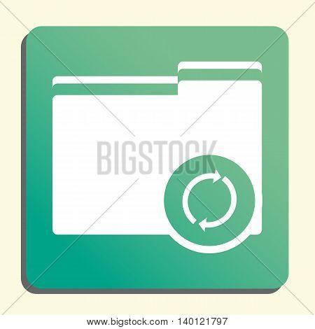 Folder Refresh Icon In Vector Format. Premium Quality Folder Refresh Symbol. Web Graphic Folder Refr