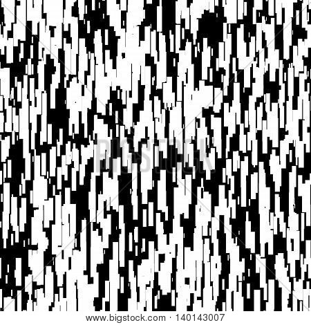 Abstract background with glitch effect, distortion, seamless texture, random vertical black and white lines for design concepts, posters, web, presentations, prints. Vector illustration.