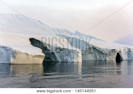 glaciers are on the artic ocean to Ilulissat icefjord, Greenland