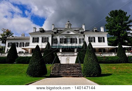 Lenox Massachusetts - September 16 2014: The Mount built in 1902 as a Summer home by noted American author Edith Wharton *