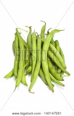 string beans isolated on a white background