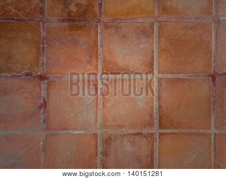 Brown tiling wall background brown floor tiles