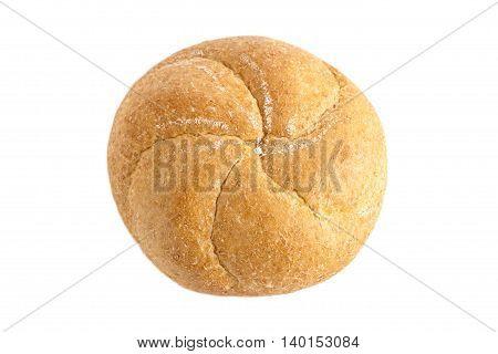 kaiser bun isolated on a white background
