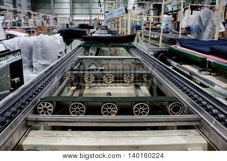 the conveyor belt and chain conveyor in industry.