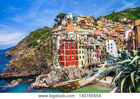 beautiful places of Italy - colorful Riomaggiore in Cinque terre