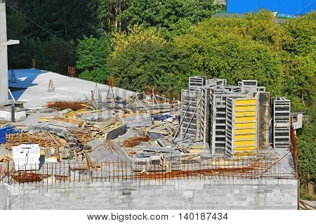 Equipment On Construction Site Work
