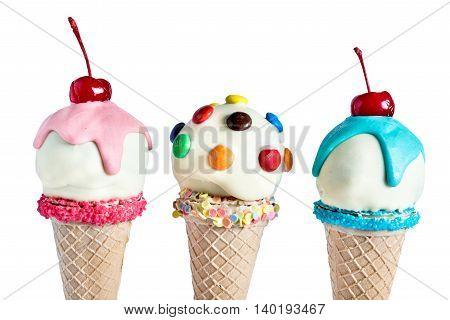 Ice Cream In The Cones