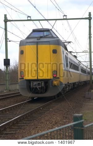 Yellow Dutch Train