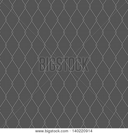 Wire fence on gray background stock vector