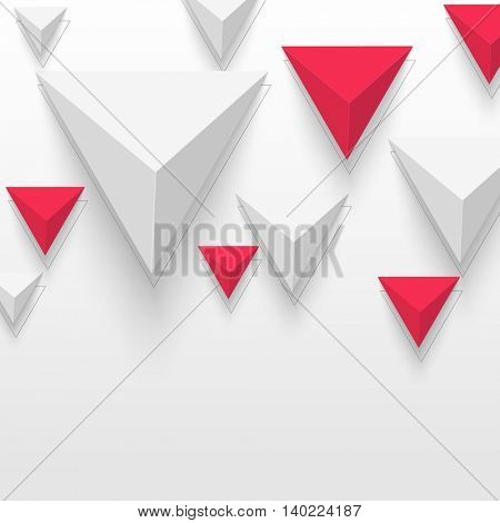 Triangular Pyramid Background. Abstract Geometric Shape. Abstract Triangle Geometrical Background. Vector Illustration.