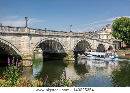 The bridge over the River Thames in Kingston upon Thames in south west London