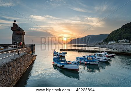 Sunrise At Lynmouth In Devon