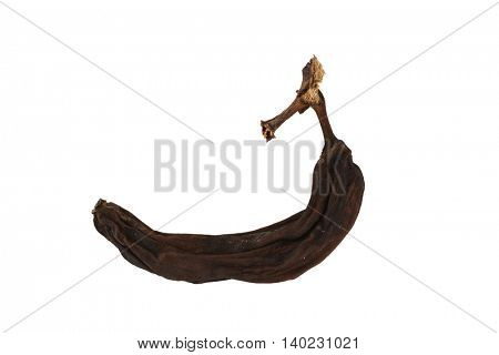 black overripe banana