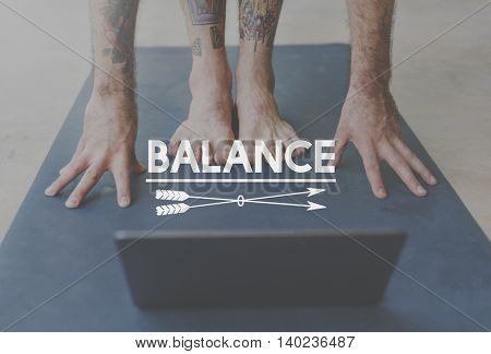 Balance Stable Steady Healthcare Wellbeing Wellness Concept