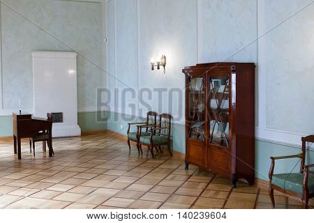 St. Petersburg, Russia-aprel 24 2016: A Communicating Room Of Lyceum In Pushkin.