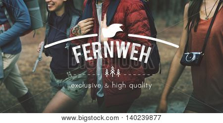Fernweh Adventure Traveling Exploration Journey Concept