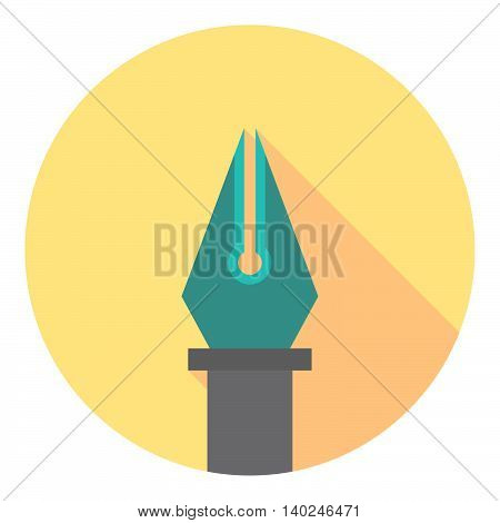 Ink Pen Tool Flat Pictogram