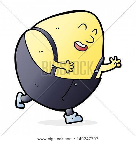 cartoon humpty dumpty egg character