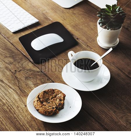 Break Coffee Black Stong Concept