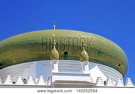 Dome of the Al-Salam Mosque and Arabian Cultural Center are located in Odessa, Ukraine. The Arabian Cultural Center was constructed at the expense of the Syrian businessman Kivan Adnan