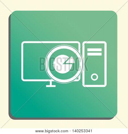 Pc Pie Graph Icon In Vector Format. Premium Quality Pc Pie Graph Symbol. Web Graphic Pc Pie Graph Si