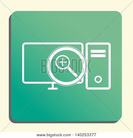 Pc Zoom In Icon In Vector Format. Premium Quality Pc Zoom In Symbol. Web Graphic Pc Zoom In Sign On