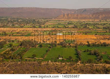 Chittorgarh Fort Rajasthan India. Chittorgarh Fort the largest fort in India. Hindu Temple in the fort.