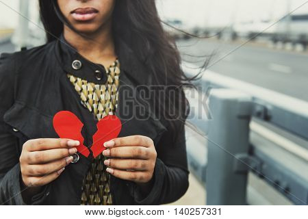 Girl Breakup Heart Broken Concept