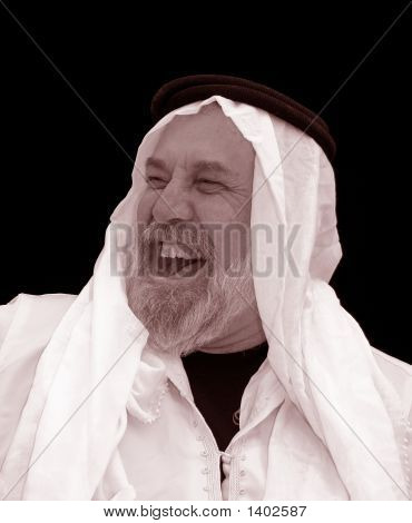 Black And White Portrait - The Sheik Laughs