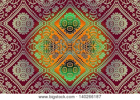 abstract decor delicate embossed carpet pattern in oriental style
