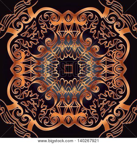 Mandala. Round Ornament Pattern. Vintage decorative elements.