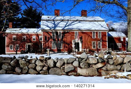 Sudbury Massachusetts - November 24 2014: The historic 1715 Wayside Inn immortalised in Longfellow's famed poem
