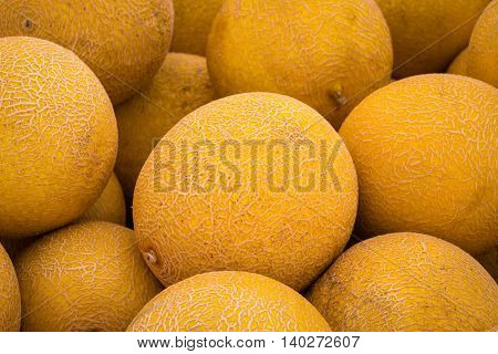 Pile Of Sweet Melons ,