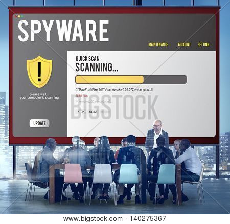 Spyware Boardroom Brainstorming Conference Concept
